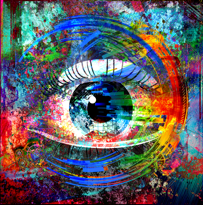 Colourful Painting of an Eye